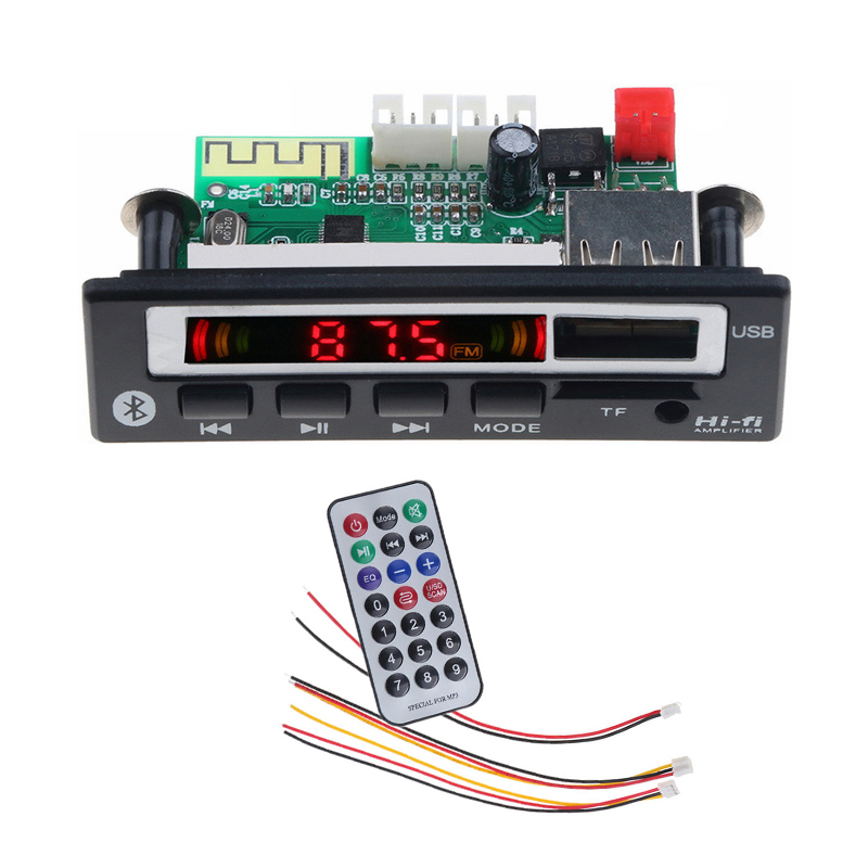 Bluetooth 5,0 <font><b>MP3</b></font> Decoder Audio Board <font><b>MP3</b></font> <font><b>Player</b></font> Musik Wireless Receiver USB TF FM Radio Dekodierung Modul Für Auto Zubehör <font><b>DIY</b></font> image