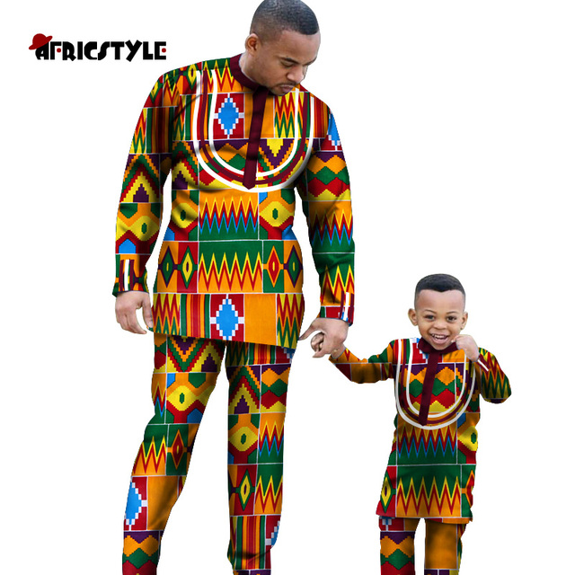2020 African parent-child suit for everyday party wear African family style suit Father and son suit wyq340