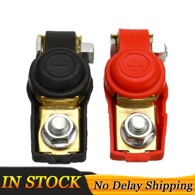 1 Pair Negative and Positive <font><b>Car</b></font> <font><b>Battery</b></font> Terminals 12V Quick Release <font><b>Battery</b></font> Cable Terminal Clamps <font><b>Connectors</b></font> Fit Caravan Boat image