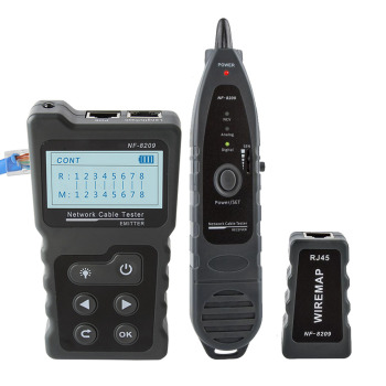 NOYAFA NF-8209 RJ45 Cable Tracker POE network Wire Checker cable tester Test Network Tool Scan Cable Wiremap utp Tester 1
