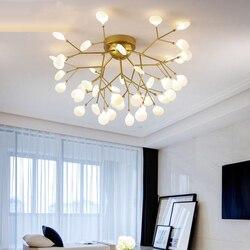 Nowoczesny ze złota wiszące oświetlenie led salon sypialnia lampa wisząca do restauracji kreatywny dom oświetlenie dekoracyjne oprawy AC110V/220 V