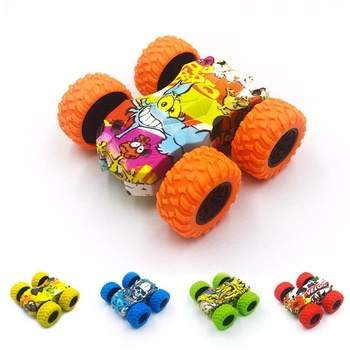 Inertia Double-sided Stunt Car Friction Powered Fall-resistant Tumbling Crawle Off-road Vehicle Rotate 360 Degrees Car Toys image