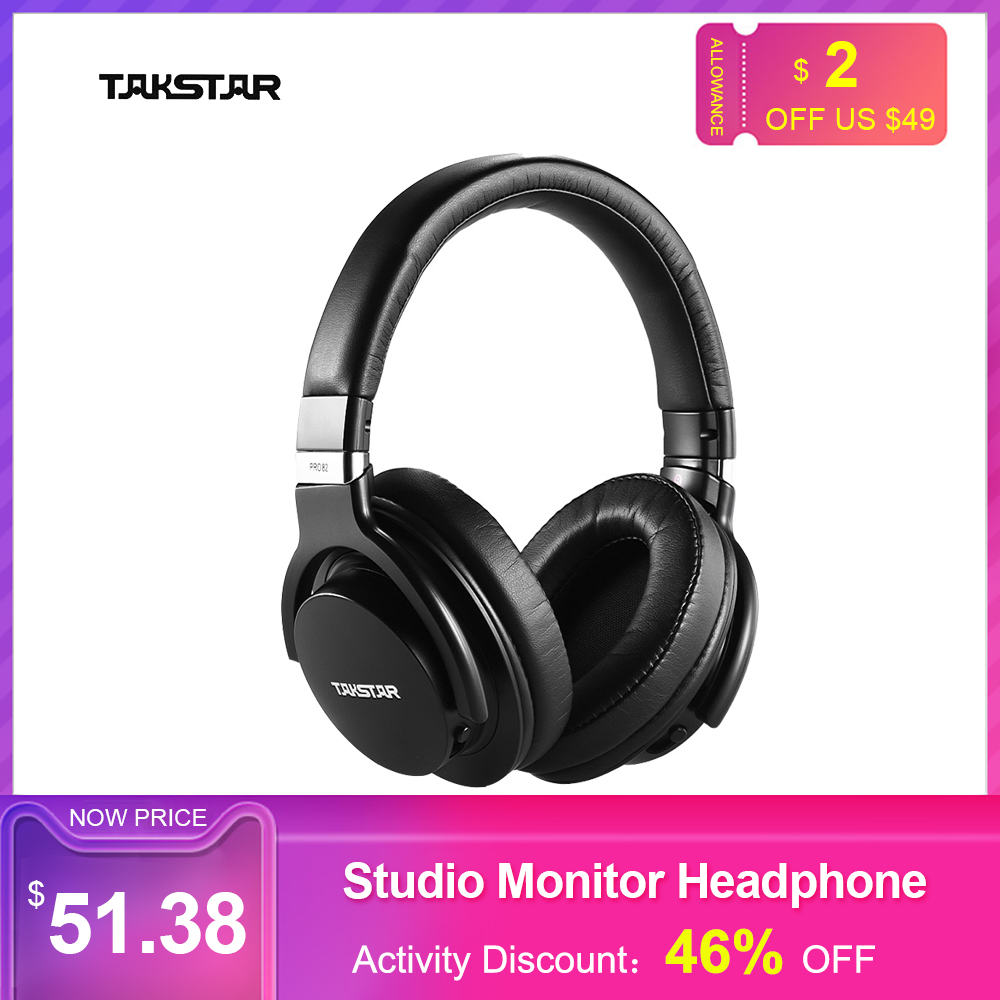 TAKSTAR PRO 82 Professional Studio Dynamic Monitor Headphone Headset Over-ear For Recording Monitoring Music Playing Game Hot