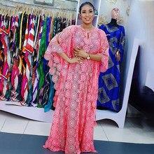 Mais roupas de tamanho sexy floral oco para fora design dashiki africano vestidos para mulheres solto femme muçulmano moda estilo islâmico