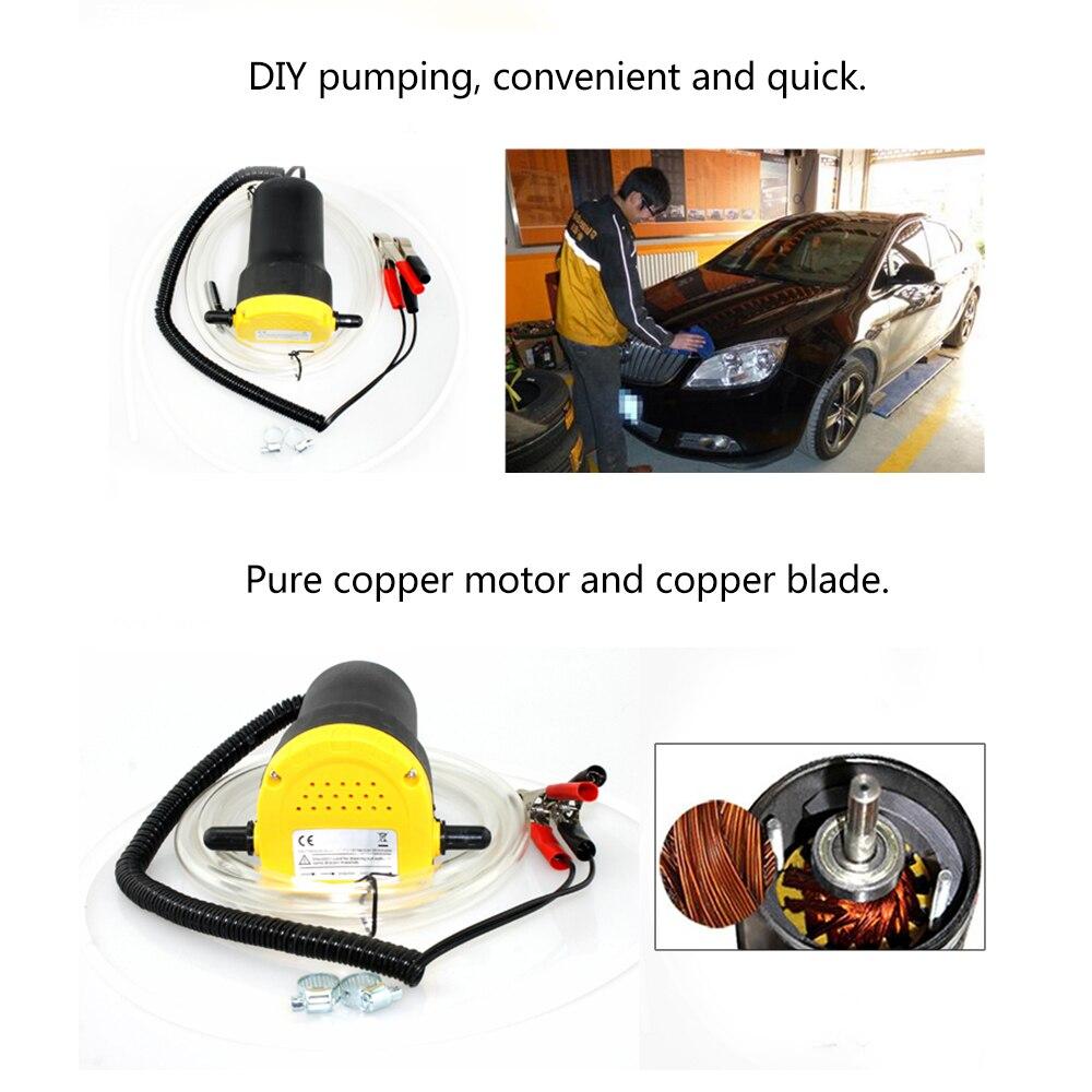 12V 60W Elektrische Professionele Olie Pomp Scavenge Zuig Transfer Veranderen Pomp Motor Olie Diesel Extractor Voor Auto boot Mot