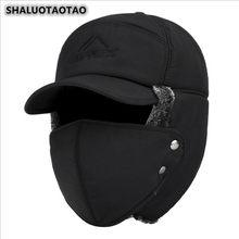 SHALUOTAOTAO Tendenza Cappelli Invernali E Con Pelliccia Donne Degli Uomini di Modo di Inverno Termico di Protezione per le Orecchie Viso Antivento Da Sci Berretto di Velluto Addensare Coppia Cappello