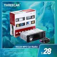 car radio 1 din 4022d Car Radio Auto Audio Stereo FM Bluetooth 2.0 Rear View Camera usb aux Steering Wheel Remote Control