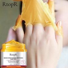 Увлажняющая восковая отбеливающая маска для рук манго восстанавливающая отшелушивающие мозоли пленка против старения крем для кожи рук 50 ...