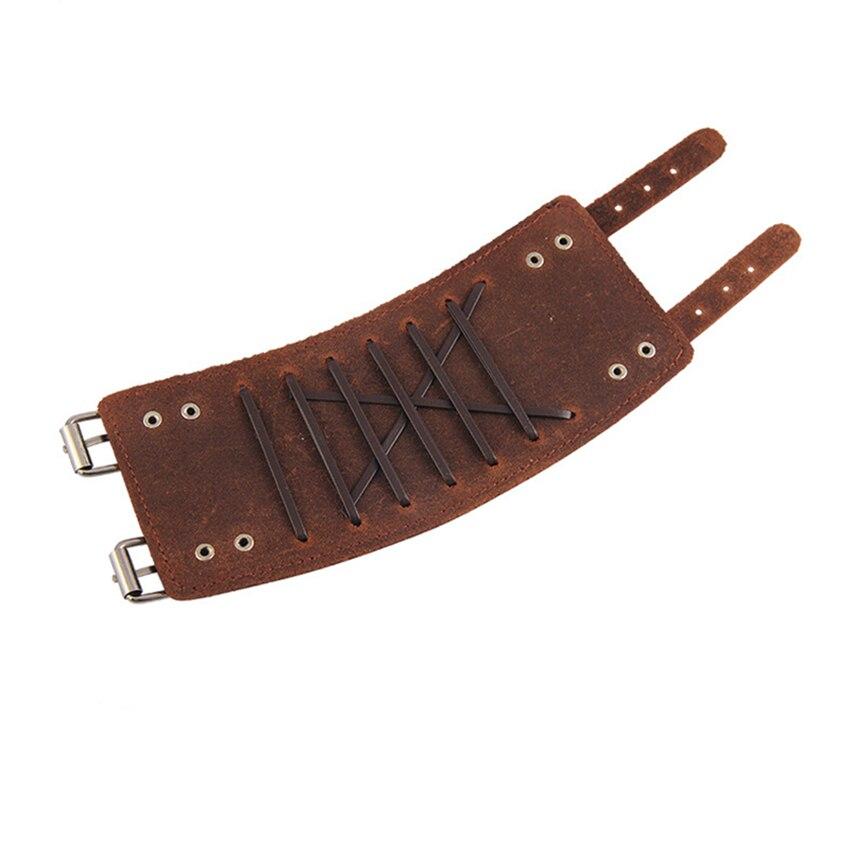 Bracelet en cuir véritable médiéval Viking réglable 6