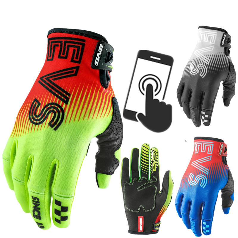 20 Touch Screen Stream Fox Top Leather Motorcycle Gloves Mountain Bike Motorcycle Gloves Drit Bike MX MTB Glove Motocross Gloves