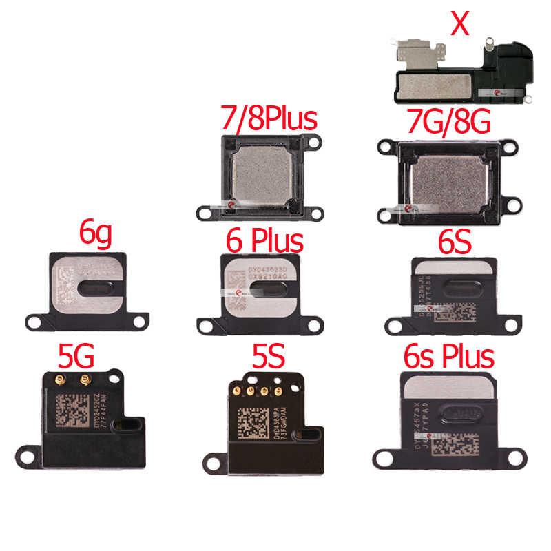 Earpiece Speaker untuk iPhone 5 5S 5C 6 6S 7 Plus X XR XS Speaker Telinga Lubang Suara telinga Speaker Ponsel Suku Cadang Pengganti