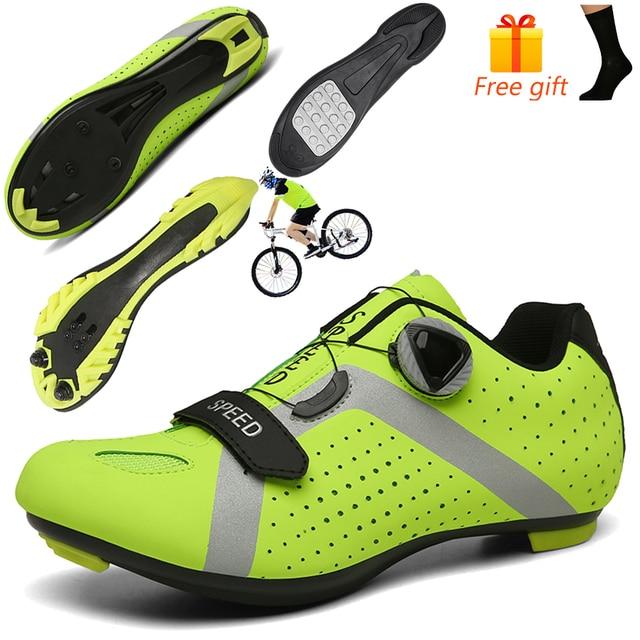 Homens ciclismo sapatos de velocidade auto-bloqueio sapatos mtb homem de bicicleta de estrada sapatos de corrida de tênis triathlon ciclismo mtb 2020 1