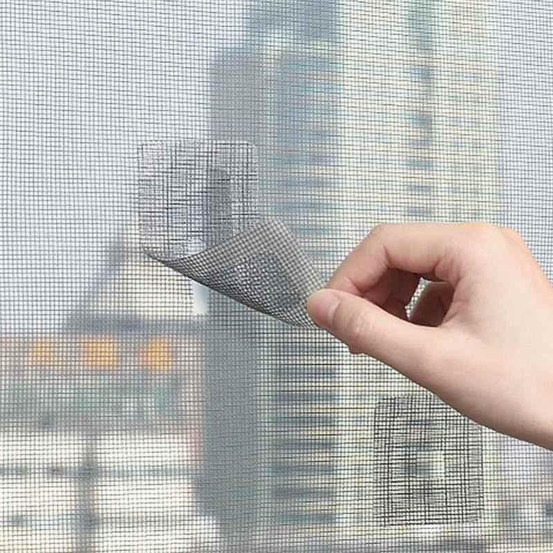 filet anti moustiques et anti mouches 5 pieces autocollants en maille pour rideaux d ecran reparation de rideaux de porte fenetre trou de