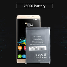 K6000 For Oukitel K6000 Pro Li-ion Polymer Batteries 6000mAh Cell Phone Replacement Battery(China)