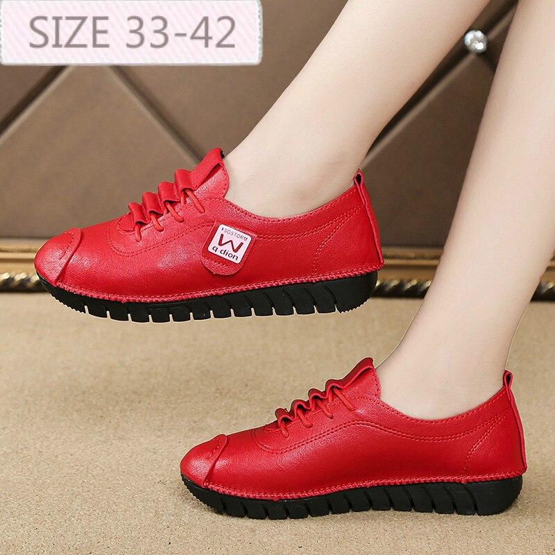 Женские ботинки лоферы из искусственной кожи с круглым носком; удобная резиновая обувь на плоской подошве; женская обувь из натуральной кожи на шнуровке на плоской подошве; сезон осень весна Обувь без каблука      АлиЭкспресс