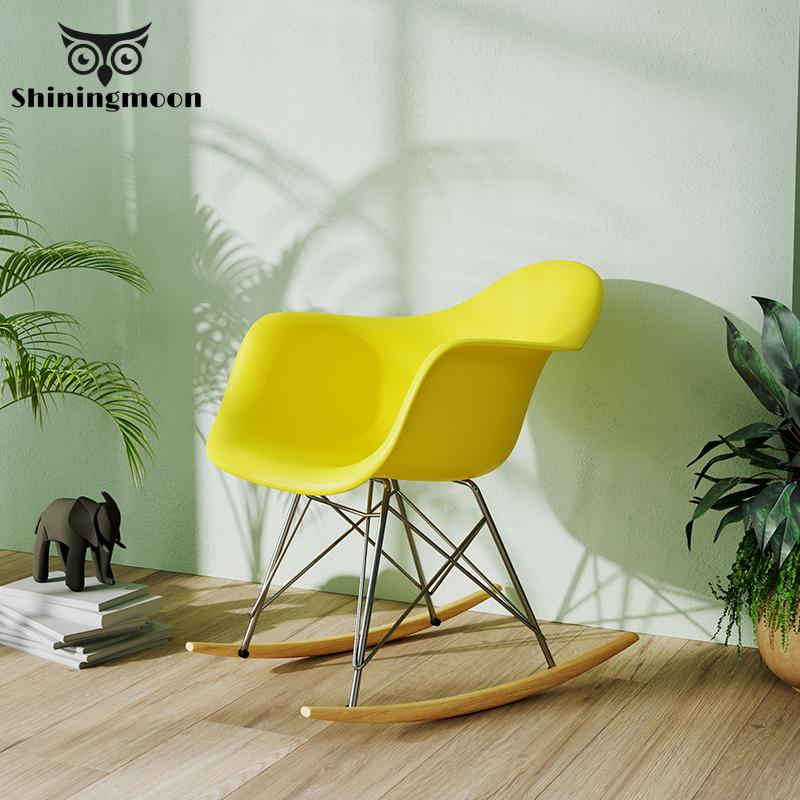 Modern Minimalism Rocking Chair Solid Wood Art Rocking Chairs Living Room Furniture Adult Office Bedroom Rest Plastic Chairs