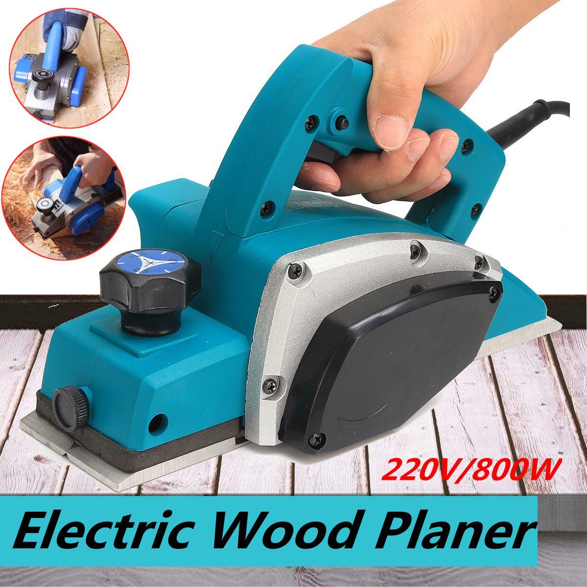 220V 800W ful Electric Wood Planer Door Plane Hand Held Woodworking Surface