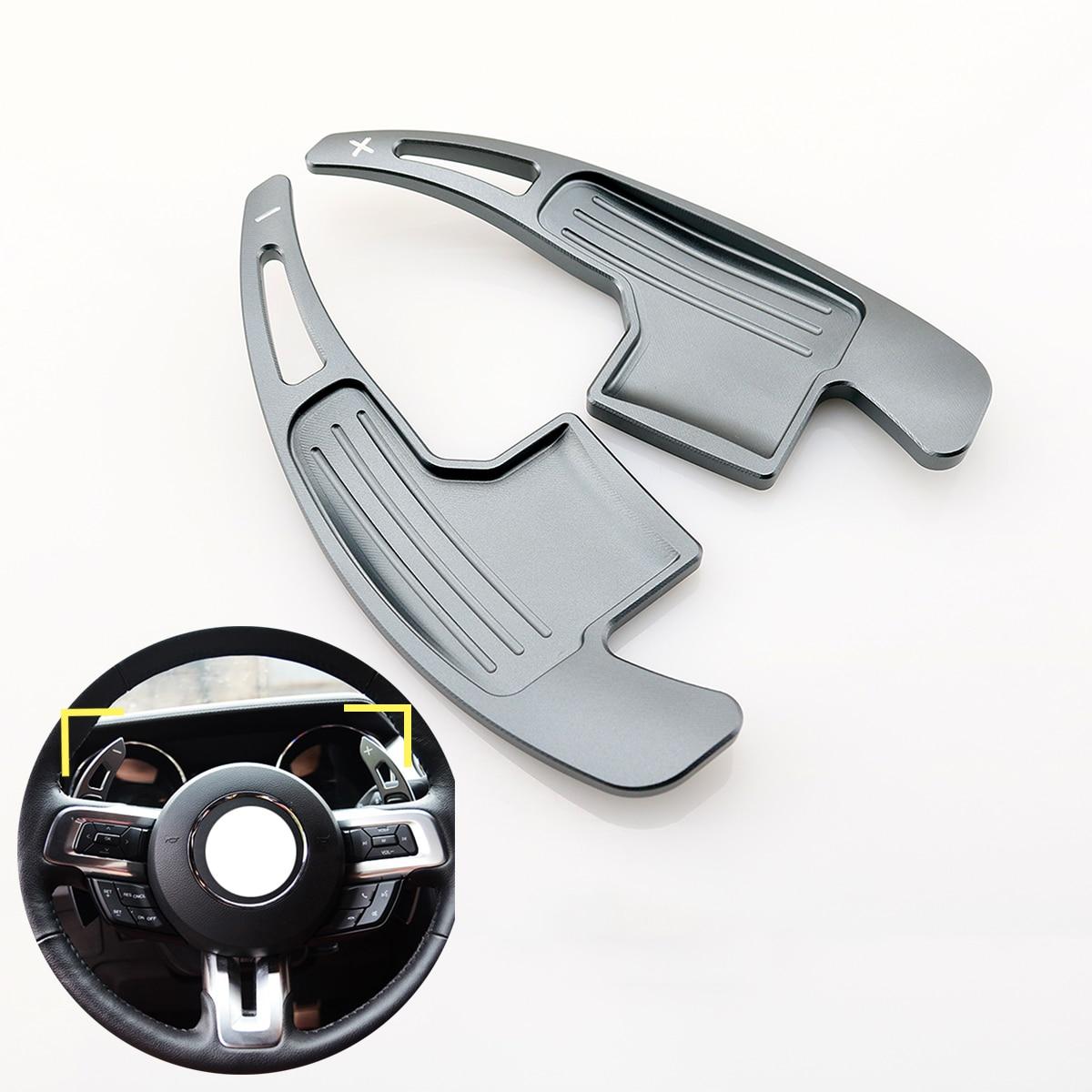 Alliage d'aluminium Décalage Paddle manette de vitesse Extension Volant Sapin Pour Ford Mustang 2015 2016 2017 2018 2019 accessoires-in Volants et Volant Moyeux from Automobiles et Motos on MYMOCCY Store