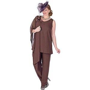 Image 4 - Zarif 3 Adet Anne Gelin Pantolon Takım Elbise Şifon Ceket Anne Gelin Elbiseler Artı Boyutu