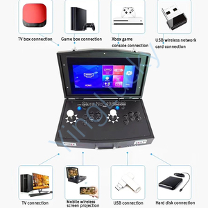 Image 2 - Nieuwe Originele Pandora Box Dx 3000 In 1 Mini Arcade Joystick Ondersteuning 2 Spelers Computer Projectoren Fba Mame Ps1 Hebben 3D Games