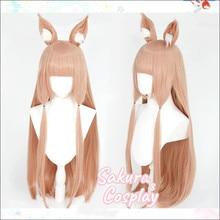 Принцесса соединение Re:Dive Himemiya Maho Косплей Длинные с ушами термостойкие синтетические волосы Хэллоуин карнавальвечерние + парик шапочка