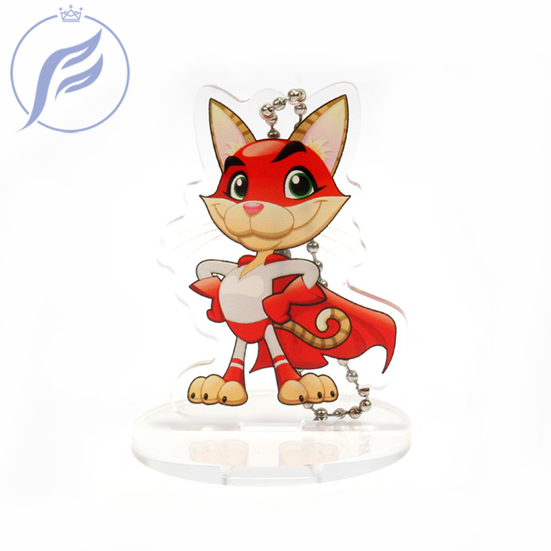 FANGQINGMAO 7CM Cartoon Anime Photo Printed Transparent Custom Acrylic Standee,double Side Printing  Stand for Model Display