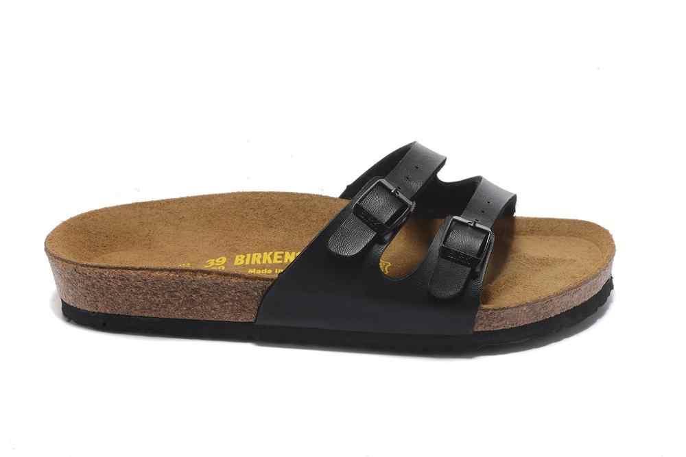 2019 BIRKENSTOCK 902 รองเท้าแตะผู้หญิง PARTY สองหัวเข็มขัดรองเท้ารองเท้าแตะฤดูร้อนรองเท้าแตะผู้หญิงรองเท้าแตะสีขาวและสีดำขนาด: 35-41