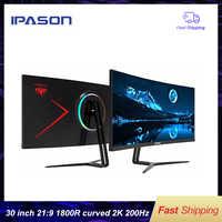 Monitor de juegos IPASON QR302W 30 pulgadas 2 K/alta velocidad de actualización 200hz pantalla panorámica 21:9 con PS4 e-sports/desktop