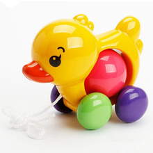 Toddler Kids Baby Toys Traditional Pull Along Duck Dog Plast