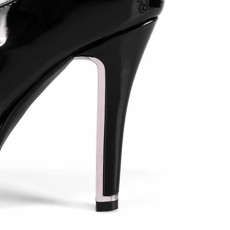 Dans Kadın Çizmeler Rugan Çizmeler Yüksek Overknee Uzun Çizmeler