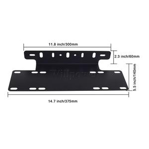"Image 3 - SUV Car Plate 15"" License Number Plate Holder 4x4 Truck Pickup LED Work Light Bar Fog Light Spotlights Mounting Bracket"