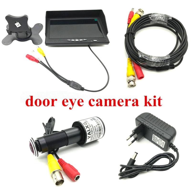 Nieuwe Home Security Cctv systeem Kits 2MP Deur Eye 1080P AHD Kijkgaatje Camera met 7 lnch AHD IPS Monitor DVR Wired Video Recorder