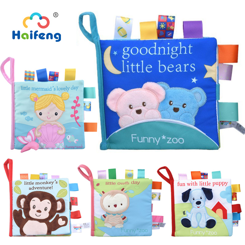 Educational Toys Baby Mobile To Bed Cloth Book  Early Learning Animals Intelligence Development Soft Cute Newborn Baby Infant