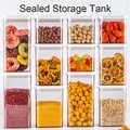 2 uds. Tarro sellado de plástico caja de almacenamiento botella transparente caja de aperitivos fruta seca almacenamiento de grano de grado alimenticio caja de almacenamiento de boca ancha