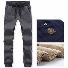 8XL Winter Thick Fleece Warm Sweatpants for Men Lamb Velvet Loose Sport Pant Casual Jogger Running Workout Fitness Trousers
