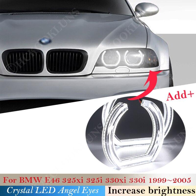 Gloss Black Car Door Rearview Wing Mirror Cover For BMW E46 325i 325xi 330i 330xi 325i 325xi 1999-2005 1 Pair
