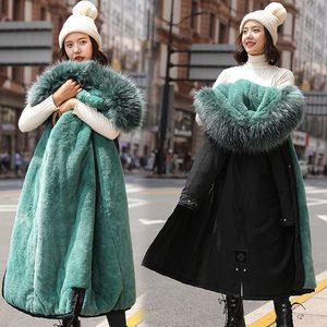 Image 5 - PinkyIsBlack Parkas largas para nieve de 30 grados para mujer, chaqueta de invierno, ropa con capucha de piel, abrigo de invierno grueso con forro de piel para mujer