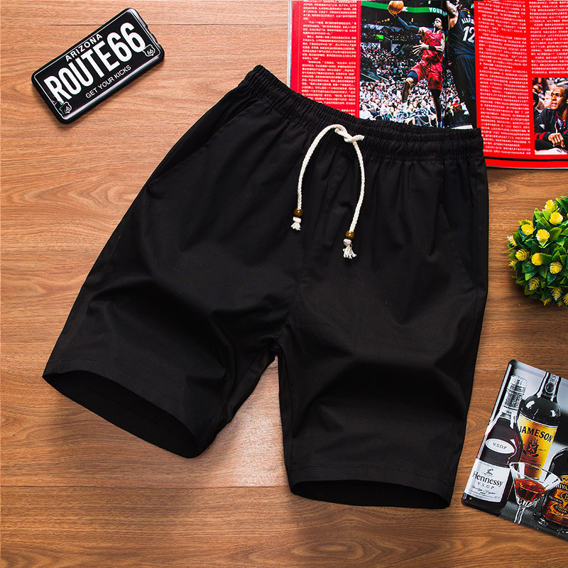New Style Summer MEN'S Wear Solid Color Casual Versatile Short Shorts Youth Korean-style Large Size Loose-Fit Beach Shorts Fashi