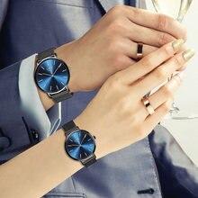 Lige пара часов для влюбленных Топ бренд Роскошные Кварцевые