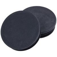 Hot Sale Blanking End Round Tube Inserts Cap Cover 50mm Dia Black 12 Pcs      -