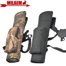 1pc archery seta quiver mochila bolsa de ombro para trás caso seta titular 40 seta composto arco recurvo caça tiro acessórios