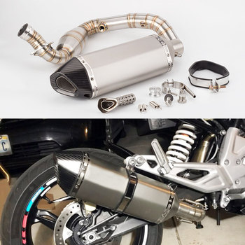 Motorcycle exhaust muffler For BMW G310R link pipe G310GS muffler G310 mid pipe stainless steel G310GS exhaust 2017 2018 alconstar stainless steel motorcycle middle exhaust connect mid link pipe exhaust with db killer for bmw f650gs f700gs f800gs