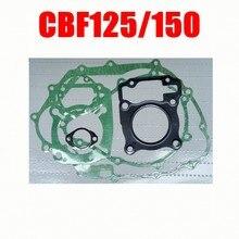 Motocicleta conjunto de juntas para honda, para honda cbf125 cbf 125 cb 125 f cb125f cbf150 xr125l glh 125 e tormenta glh125