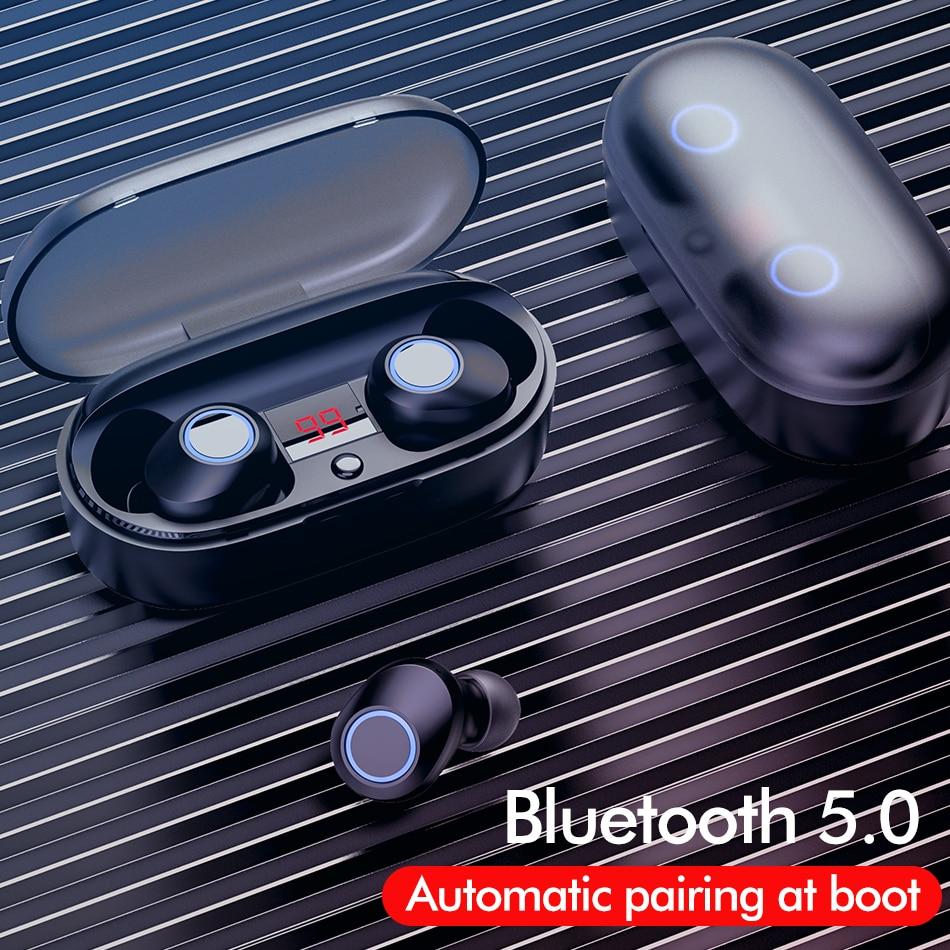 TWS Wireless Headphones Bluetooth 5.0 Earphones Waterproof Led Display Headset Mini Stereo HiFi Sport Earbuds Deep Bass With Mic