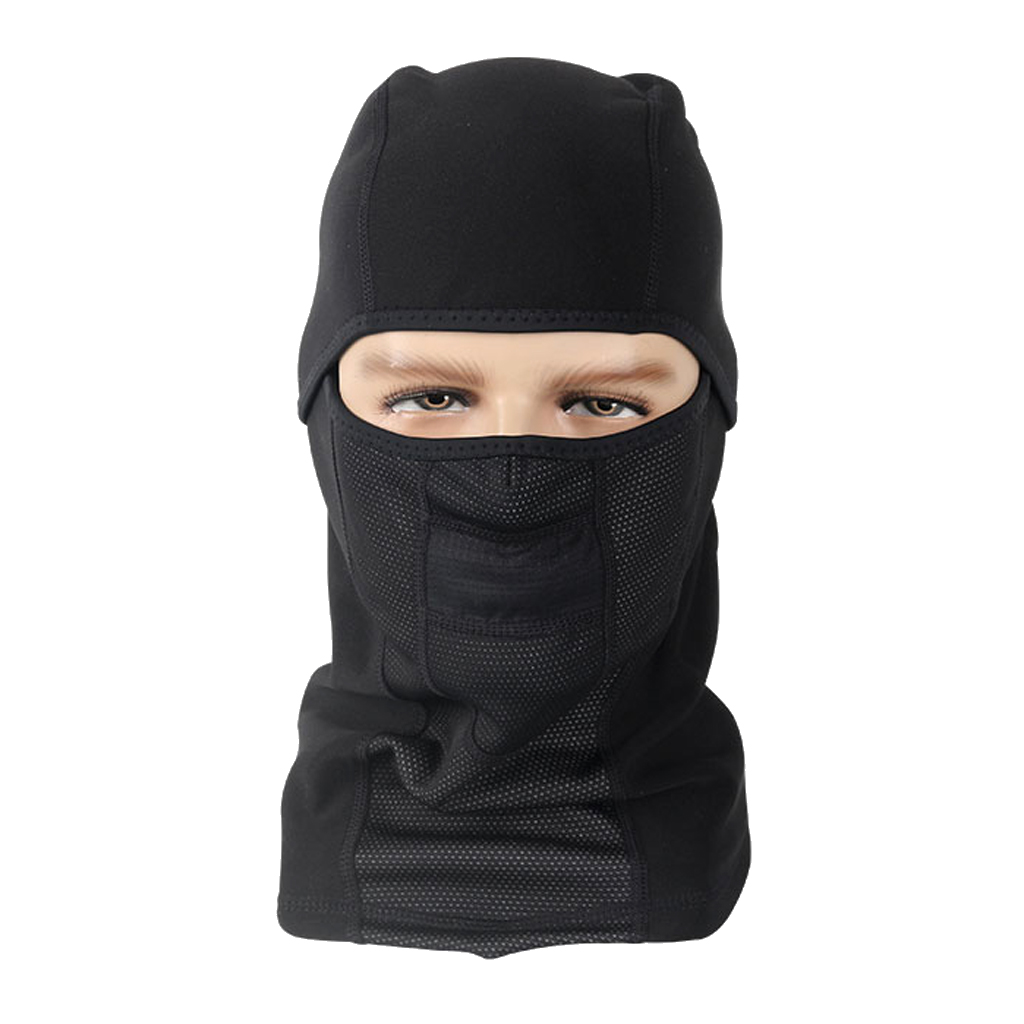 1pcs Cycling Bicycle Balaclava Hats Full Face Mask Comfortable 32x28cm Black  Brand New And High Quality