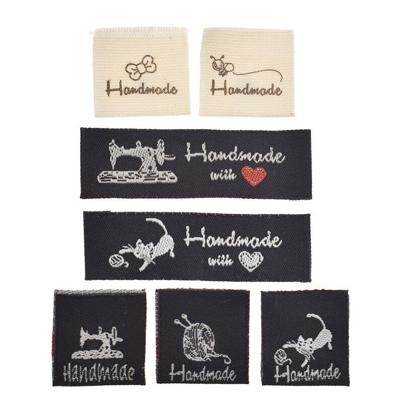 50 детской моющейся ткани ручной работы для женской одежды, ярлыки, сумки, аксессуары для декора
