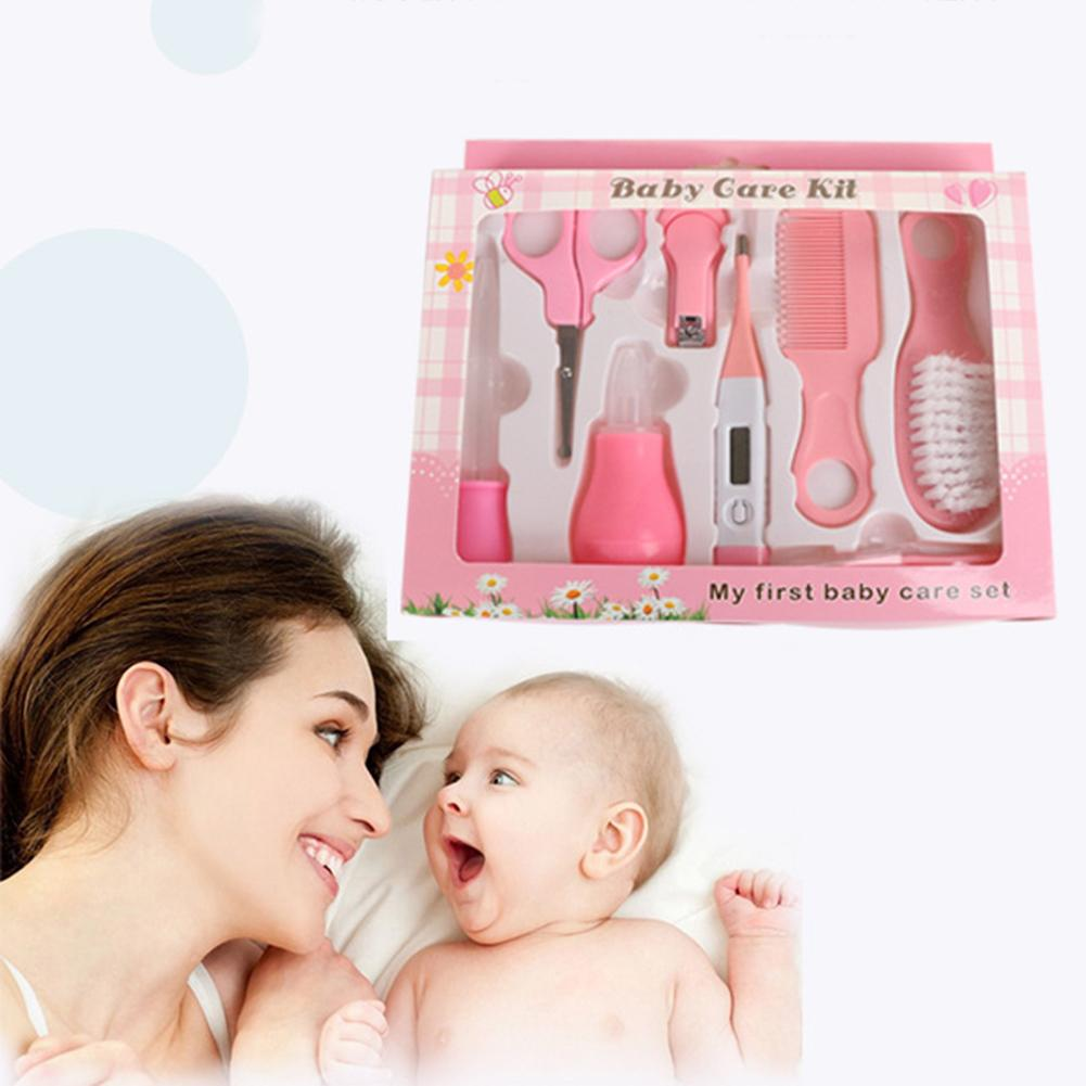 10Pcs/Set Newborn Baby Care Kit Tools Infant Thermometer Nail Clippers Scissors Grooming Kit Baby Care Tools Child Care Products