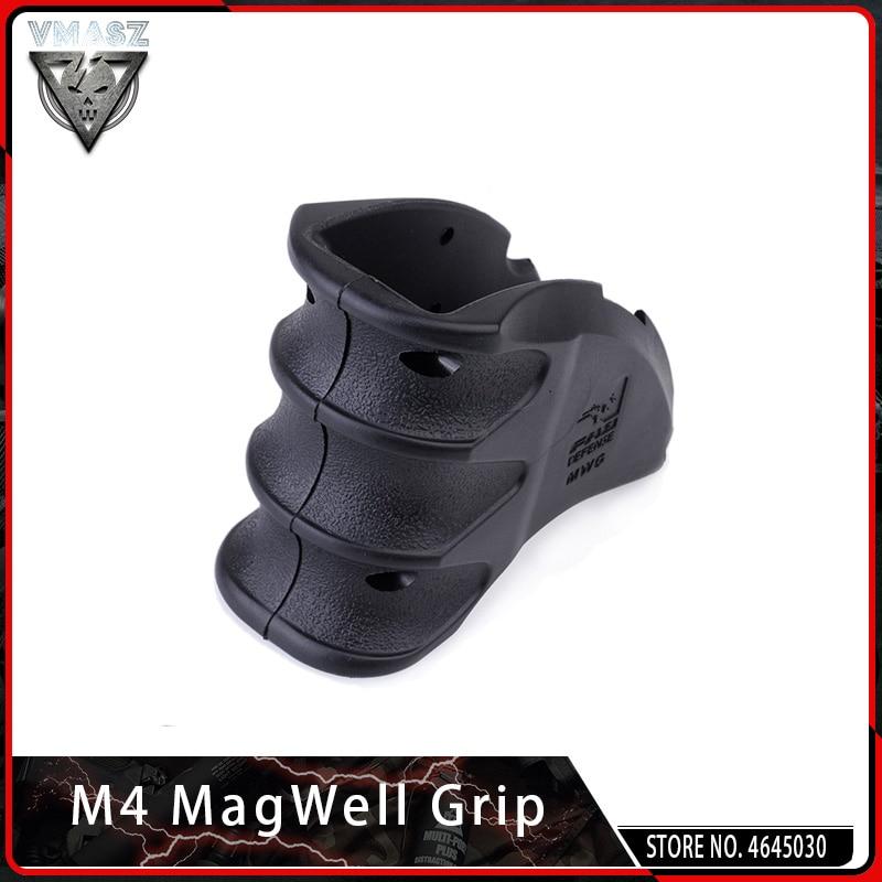 VMASZ AEG Tactical Water Gun Adjustable Magazine Well Grip Toy Gun Accessories For Airsoft M4 Gun Grip Outdoor Shooter Sports