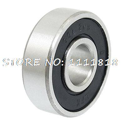 Electric Motor Rubber Sealed Deep Groove Ball Bearing 7mm X 19mm X 6mm