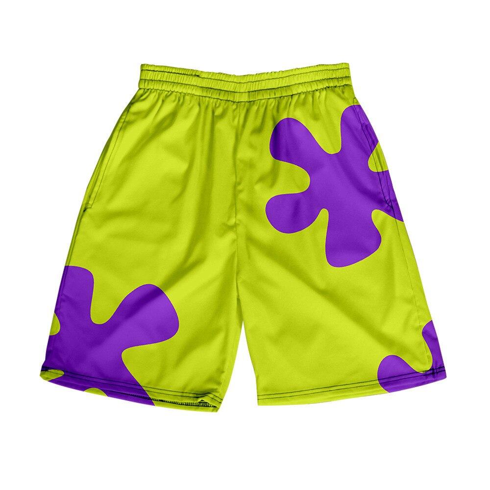 Шорты для плавания мужские быстросохнущие, пляжные плавки с 3D рисунком аниме Патрик звезды, стиль хип-хоп, летние